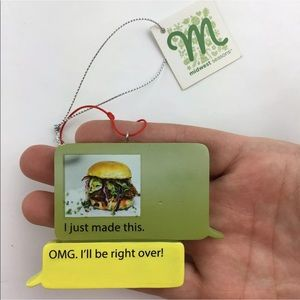 Text Bubble Ornament Burger Foodie Food Text
